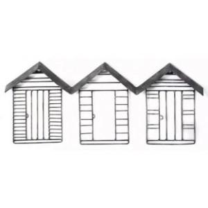 Metal beach hut