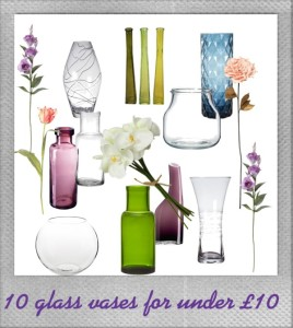 10 glass vases for under £10