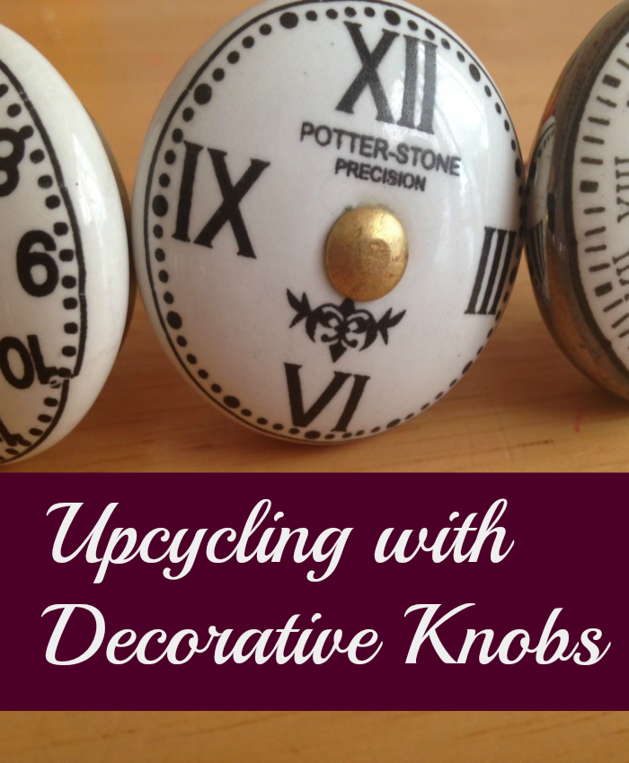 upcycling with decorative knobs