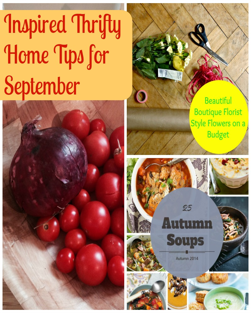 Inspired thrifty home tips for September