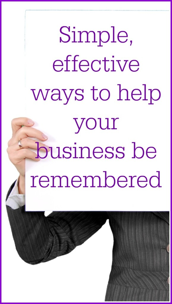 ways to help your business be remebered