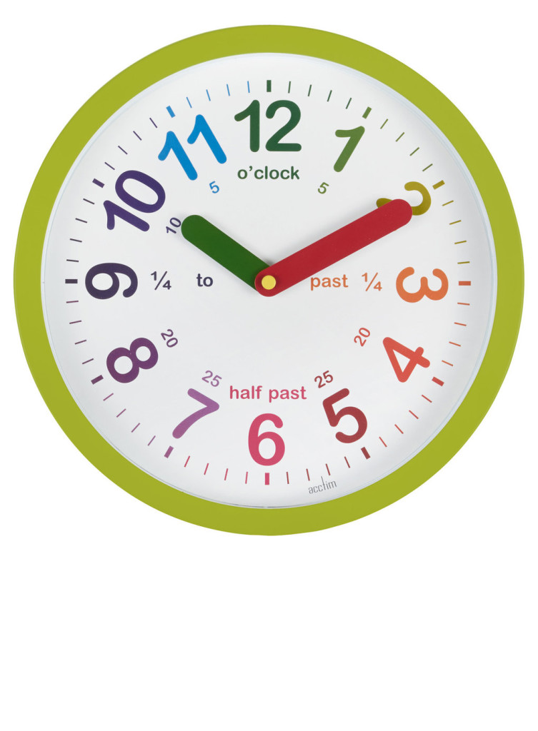 green teaching clock