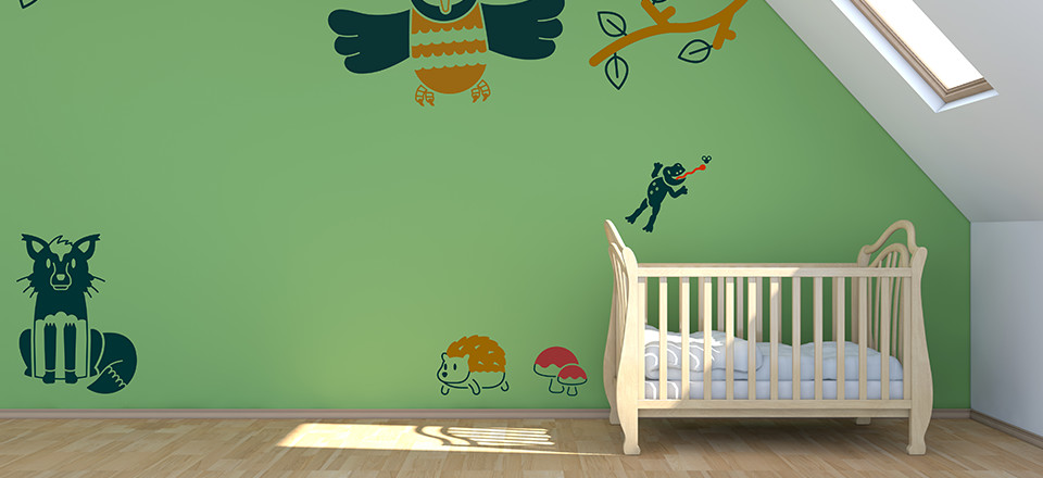 Free wall decal stickers for children's bedrooms