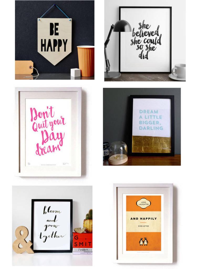 motivational typographic art