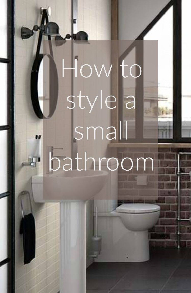 How to style a small bathroom thrifty home for Really small bathroom