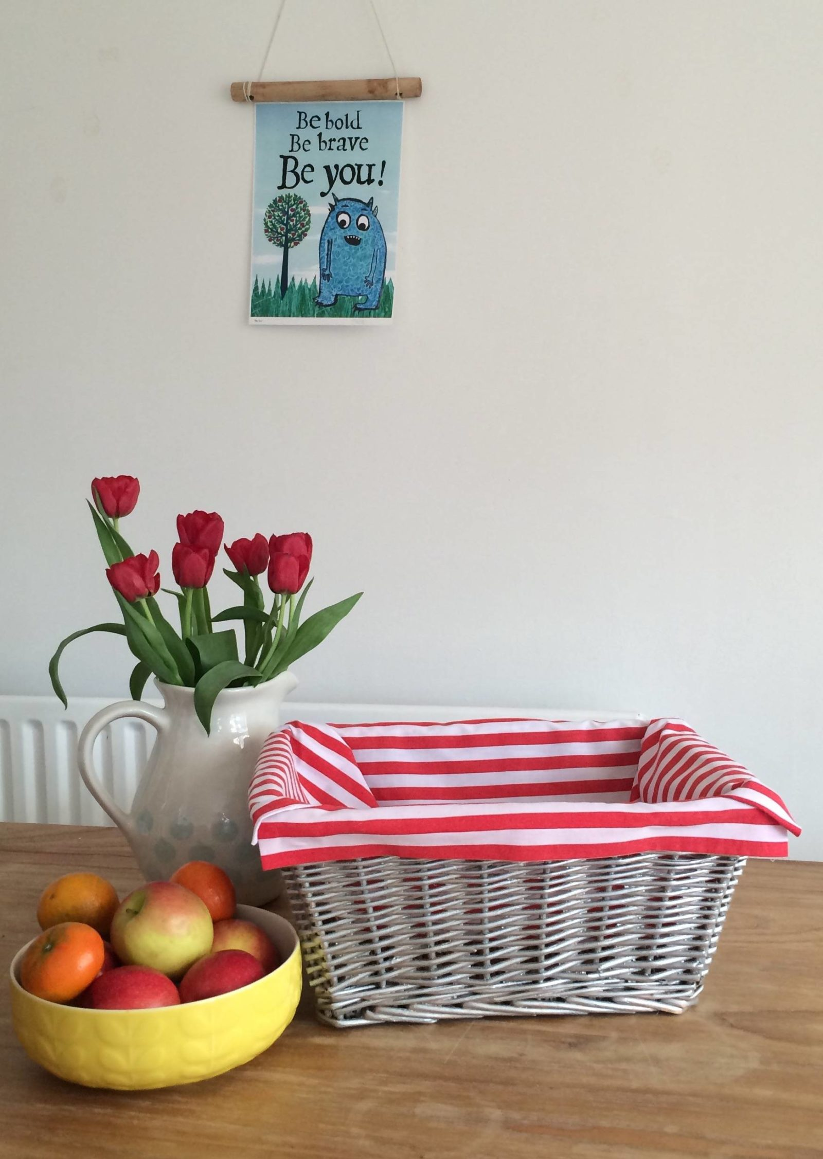 How to upcycle a wicker basket