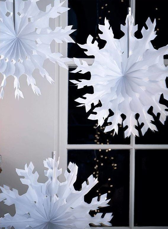 snowflakes, Christmas home decor under £30