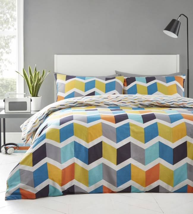 Bright duvet covers, How to update a bedroom on a budget