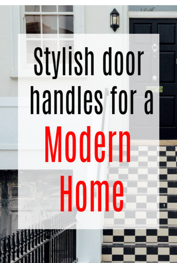 stylish door handles for a modern home