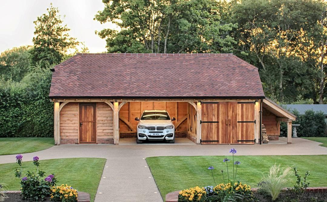 oak garage room